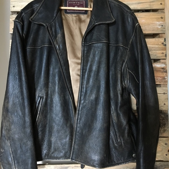 b7e8285007f6 Andrew Marc Jackets & Coats | Xl Brown Leather Bomber Mens Jacket ...